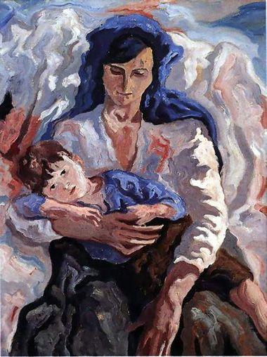 """giulia la """"santarcangelese"""" dipinto ad olio di Carlo Levi....."""