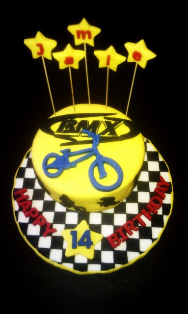 BMX Cake by Cakes with Hart, via Flickr