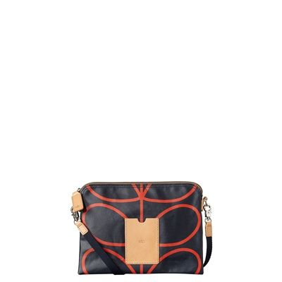 Orla Kiely Giant Stem Print Travel Pouch - Clutch Bag in stock at Contemporary Pieces