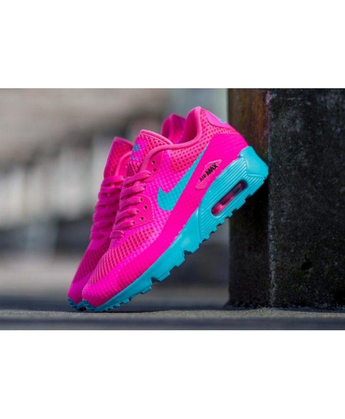 Chaussure Nike Air Max 90 Ultra Breathe Rose Blast Gamma Bleu Junior