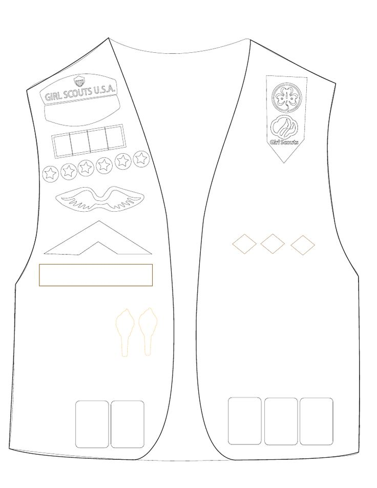 vest coloring page coloring pages