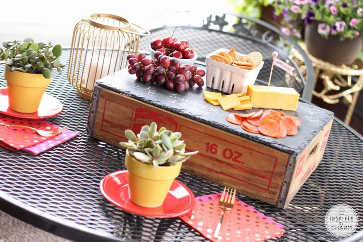 Slate Boards, Three Ways via Inspired by Charm Menu Board, Place Mat, Cheese Tray