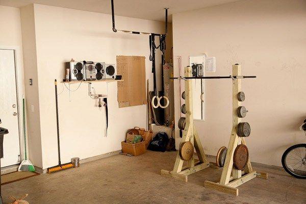 No money problem diy squat rack garage gym