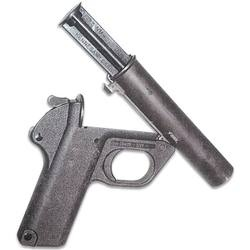 .22LR Barrel Insert 26.5mm Flare Guns Shoot .22LR Ammunition In European Flare. Limited use, due to lack of sights, but could be used to finish off trapped or wounded game, or to dispatch animals for slaughter.