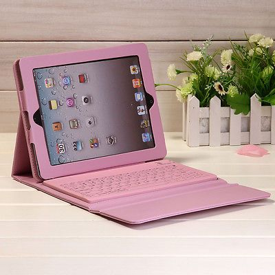 Details about Wireless <b>Bluetooth Keyboard</b> w/ Stand <b>PU Leather</b> ...