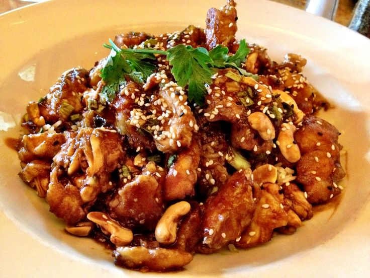 Cheesecake Factory Spicy Cashew Chicken - use stevia :)