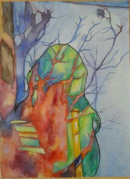 In my mind#2016#SONIYA erdenesaikhan#watercolor painting