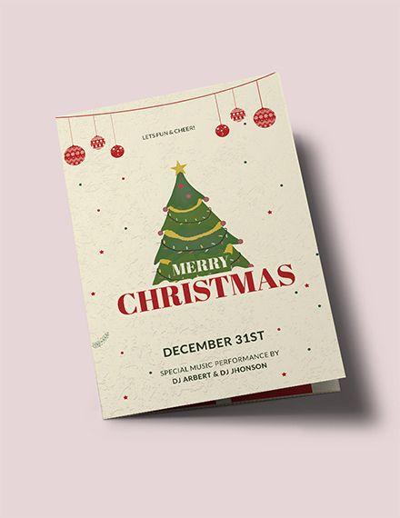 free vintage christmas bi fold brochure brochure templates design 2019 pinterest templates brochure template and bi fold brochure