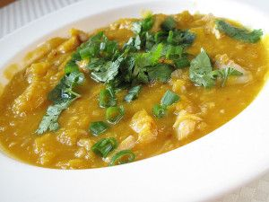 Supă de dovleac cu linte (de la 10 luni)