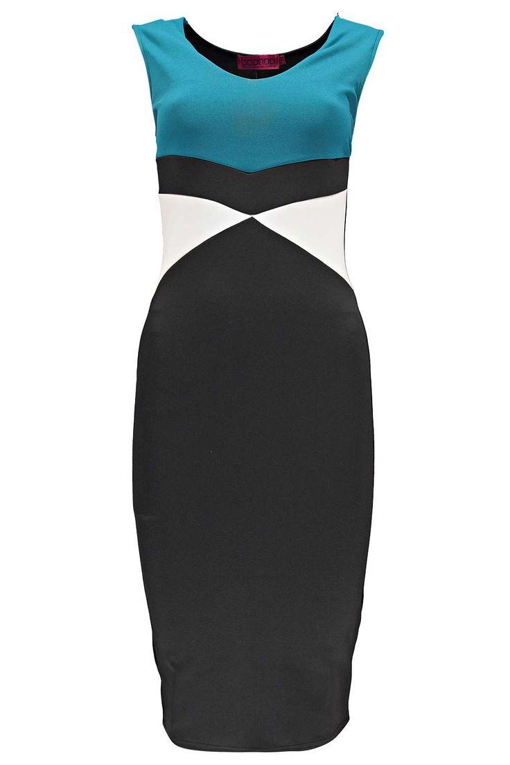 Blake Colour Block Midi Dress at boohoo.com