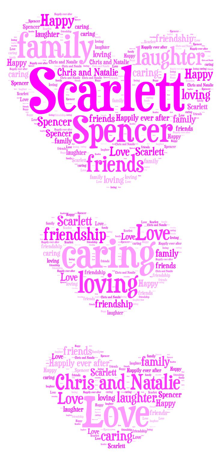 Personalised Heart Word Art Design By Word Art Wizard  https://www.facebook.com/TheWordArtWizard    Personalised Design £4.99 Printed and Framed £8.99