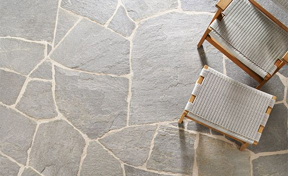 Eco Outdoor - Flooring - Crazy Paving - Endicott (not in crazy paving but this colour for back verandah and stepping stones)