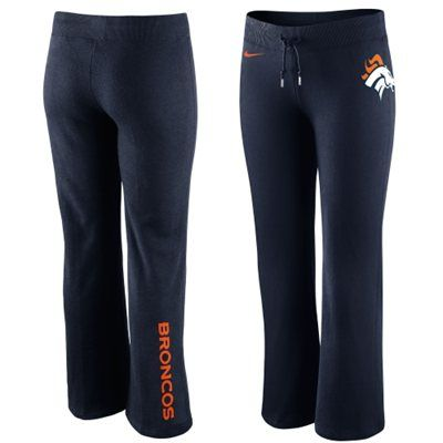 Nike Denver Broncos Womens Tailgater Fleece Pants - Navy Blue