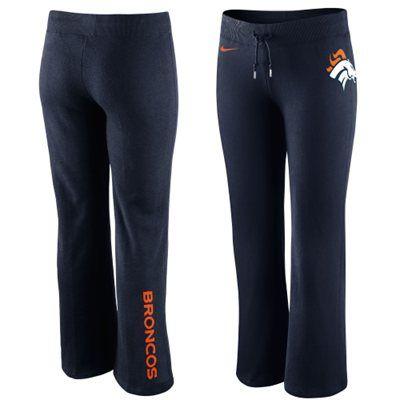 Nike Denver Broncos Womens Tailgater Fleece Pants