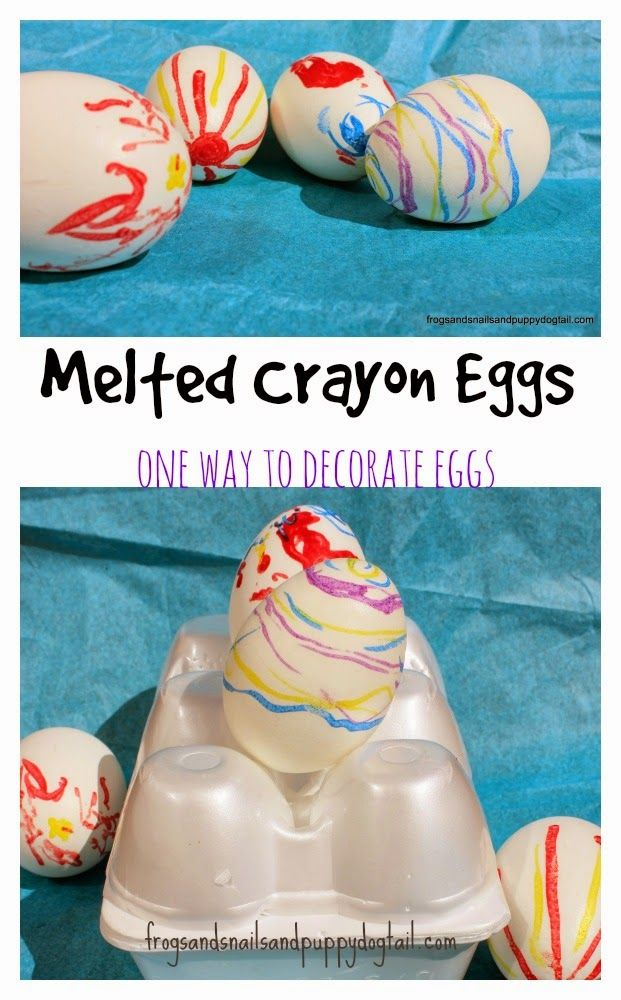 Melted Crayon Eggs- one way to decorate eggs with kids by FSPDT