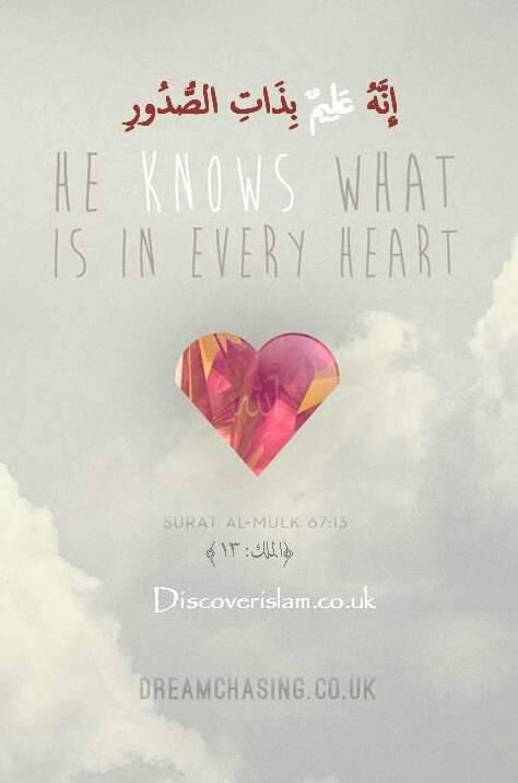 Allah knows what is in every heart