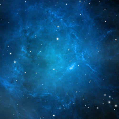 "Bull Nebula. Kinda ""plain Jane"" in the false light rendering. Blue is generally used to represent hydrogen."