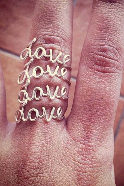 """i love this """"love"""" ring"""