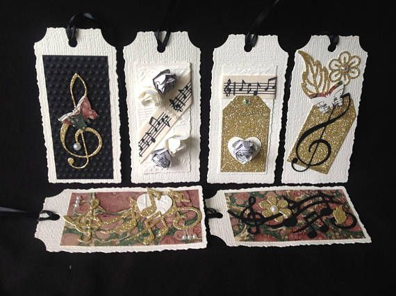 Music #Gift #Tags  set of six