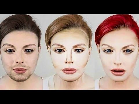 A male to female transformation that shows the contour in-between.