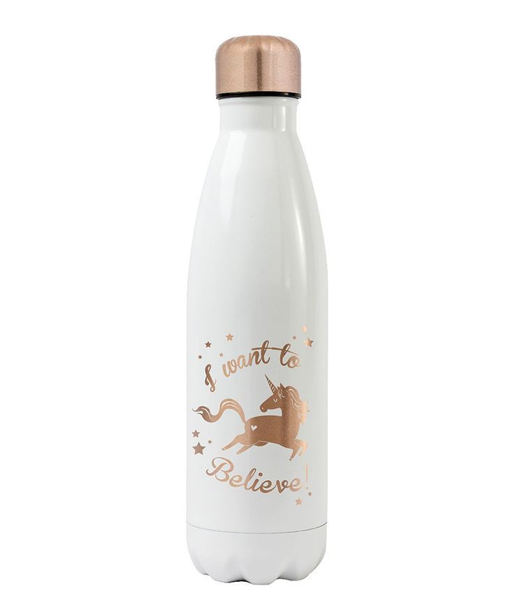 White 'I Want to Believe' 16-Oz. Stainless Steel Water Bottle