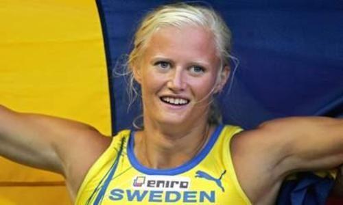 Carolina Klüft   Carolina Klüft ne participera pas à l'heptathlon à Pékin ... Guld i sjukamp vid OS i Aten 2004.