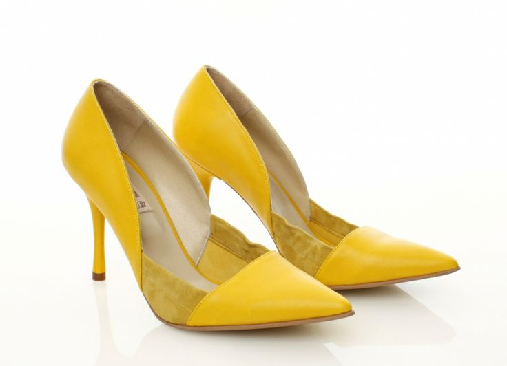Leather Yellow shoes by Mihaela Glavan |  http://bit.ly/1wppfNW  www.wearitwithlove.com