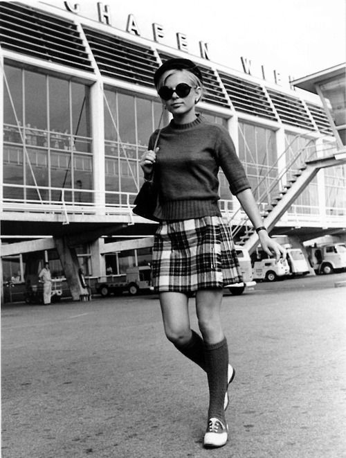 France Gall, 1960s. showcasing a sixties short skirt