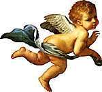 Angels in the Bible never appear as cute, chubby infants! They are always full-grown adults. When people in the Bible saw an angel, their typical response was to fall on their faces in fear and awe, not to reach out and tickle an adorable baby.