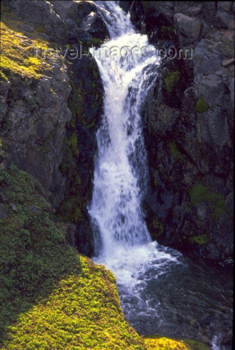 Kerguelen island: Port Jeanne d'Arc - waterfall - http://www.travel-images.com/kerguelen.html