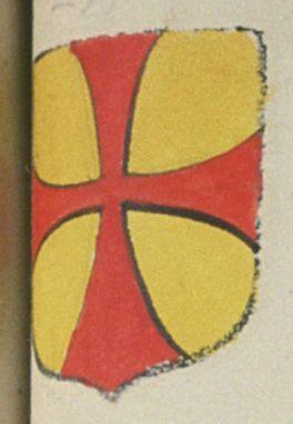 Perine DE LA GREVELAIS CHOTARD, fille majeure. Porte : d'or, à une croix pattée de gueules | N° 233