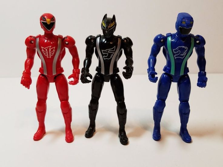 Mighty Morphin Power Rangers RPM Red Black Blue Eagle Lion Wolf Action Figures #Bandai