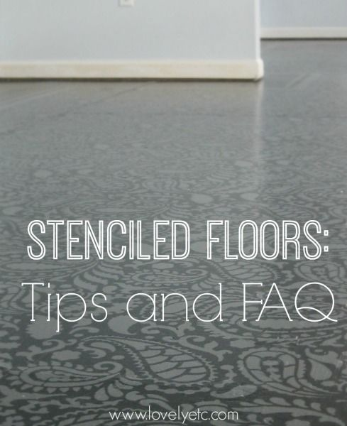 Painted and stenciled floors are such an amazing, inexpensive way to get beautiful floors.  If you've ever thought about painting your own floors, you are going to want to check out these tips to get the answers to most of your questions.
