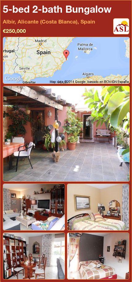 5-bed 2-bath Bungalow in Albir, Alicante (Costa Blanca), Spain ►€250,000 #PropertyForSaleInSpain