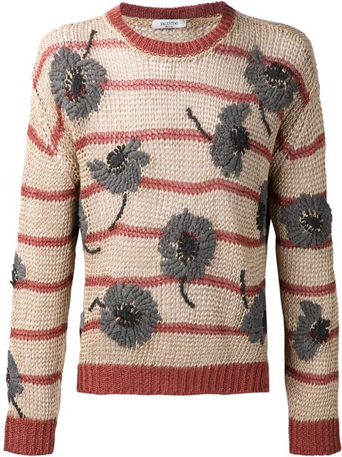 Купить Valentino свитер в полоску с цветочным рисунком в Just One Eye from the world's best independent boutiques at farfetch.com. Shop 300 boutiques at one address.