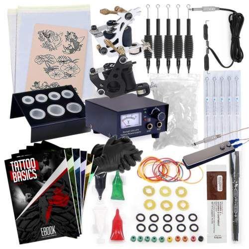 Starter-Tattoo-Machine-Kit-2-Gun-Equipment-Set