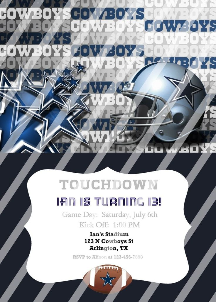 52 best Inez birthday images – Dallas Cowboys Party Invitations