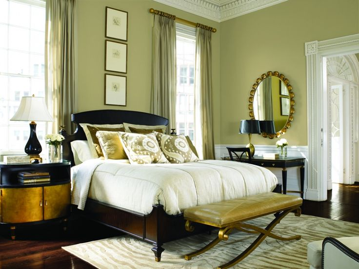 Never Been One For A Sage Bedroom But I Like This