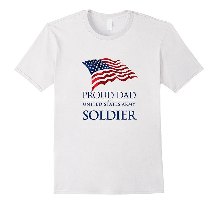 Proud Dad of US Army Soldier Flying American Flag T-Shirt