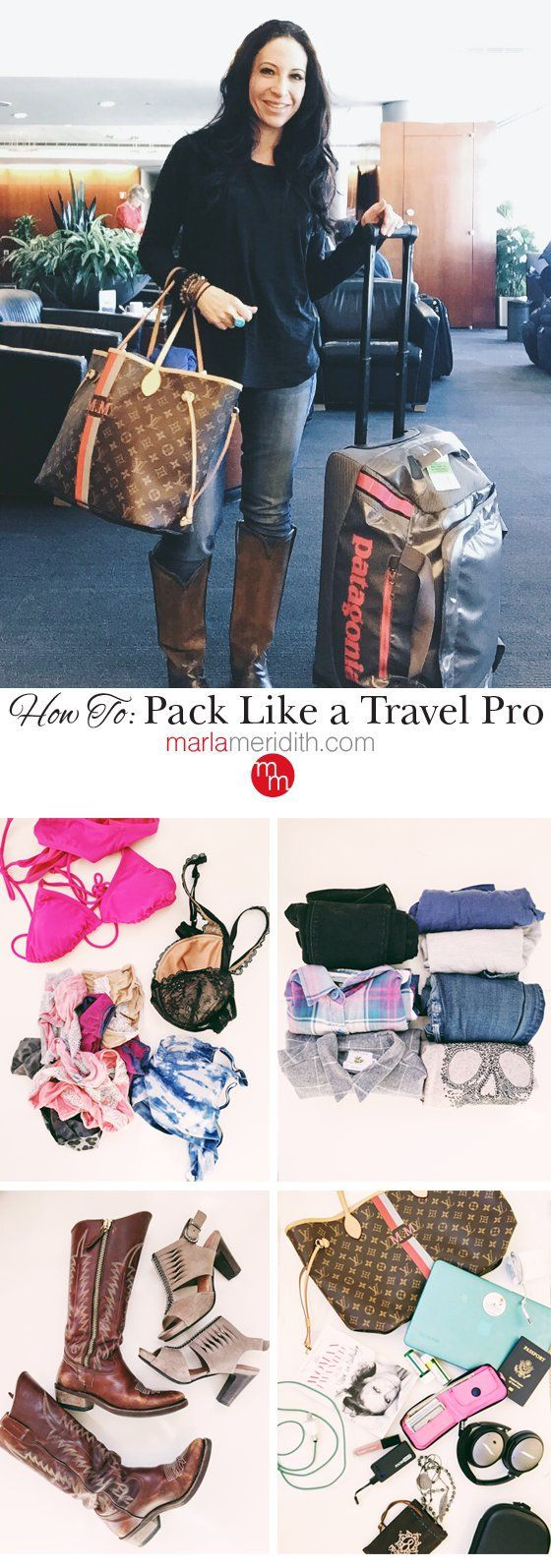 How to Pack Like a Travel Pro! I travel the world often for work & play. Here's all you need to know from an expert! MarlaMeridith.com ( @marlameridith )