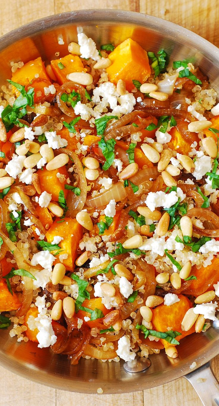 ... Roasted Butternut Squash, Pine Nuts, Caramelized Onions and Feta