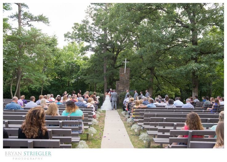 Wide View Of The Outside Wedding Ceremony At Mount Sequoyah In Fayetteville AR