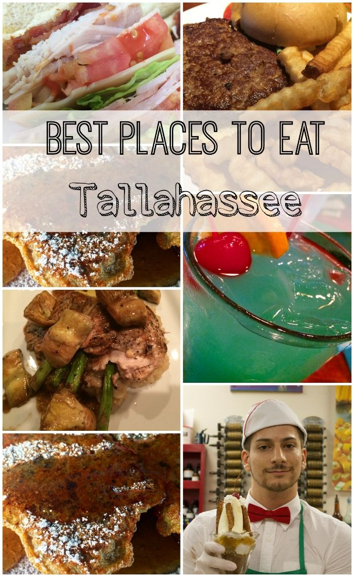 best places to eat in tallahassee, fl. Been to two of the eight and they're delicious!