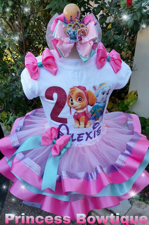 Check out this item in my Etsy shop https://www.etsy.com/listing/493427100/skye-and-everest-tutu-paw-patrol-tutu