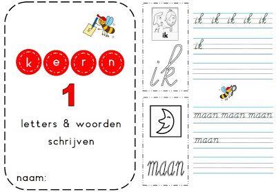 kern 1 - Schrijven van de woorden