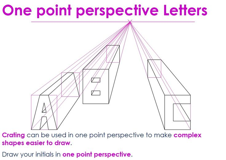 1 point perspective letters pictures to pin on pinterest pinsdaddy. Black Bedroom Furniture Sets. Home Design Ideas