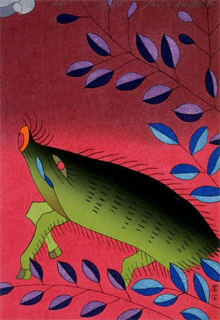 Kiyoshi Awazu, Reflections on Japanese Playing Cards: July