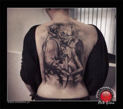 Diver Tattoo , Artist@Dominik Szymkowiak, Art Line Tattoo Poznan
