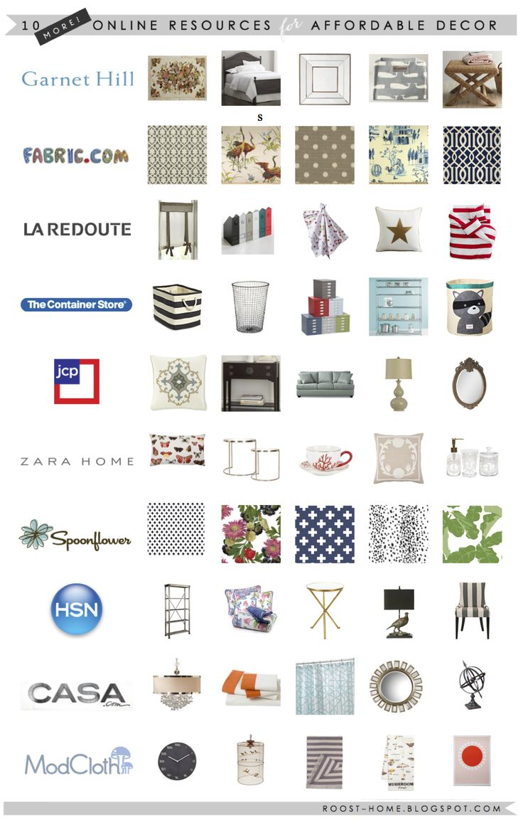 10 MORE online shops for affordable home decor | via roost-home.blogspot.com