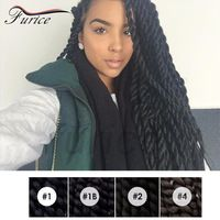 65~120g/piece Havana Mambo Twist Crochet Braiding Hair Synthetic Kinky Curly Hair Extension Single Braids Styles For Black Women